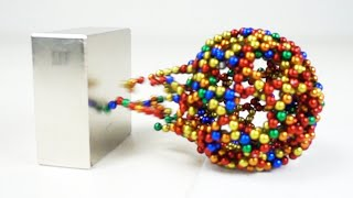Monster Magnets VS Magnetic Sculptures in Slow Motion | Magnetic Games