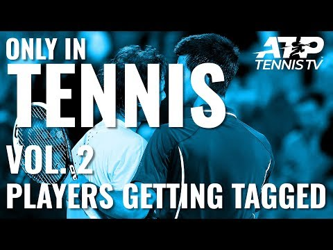 Players Getting Hit by Balls 😳: ONLY IN TENNIS Vol. 2
