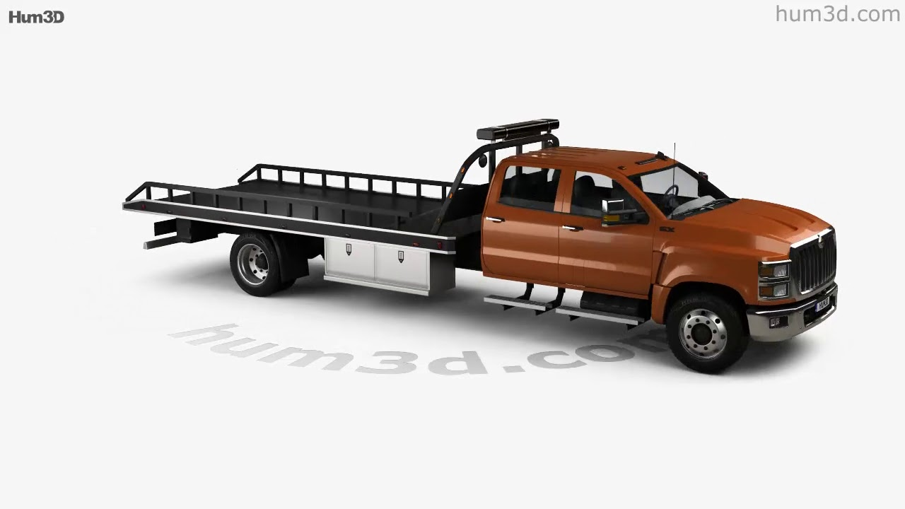 international cv crew cab rollback truck 2018 3d model by hum3d com