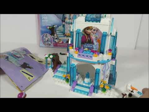 NEW LEGO Frozen Elsa's Sparkling Ice Castle Review with Anna & Olaf ...