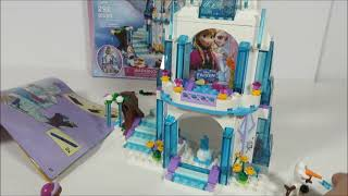 New Lego Frozen Elsa's Sparkling Ice Castle Review With Anna & Olaf 2015 Set 41062