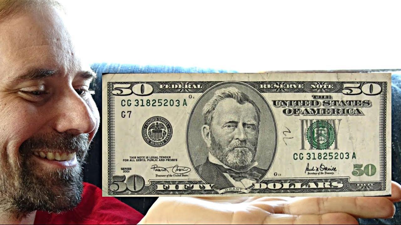 US 50 Dollar Bill - Series 2001
