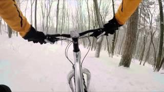 Fatbike 9:ZERO:7 im Schnee