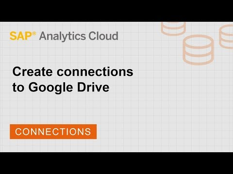 Create connections to Google Drive   SAP   SAP