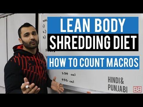 lean-body-shredding-diet---macros-explained!-(hindi-/-punjabi)