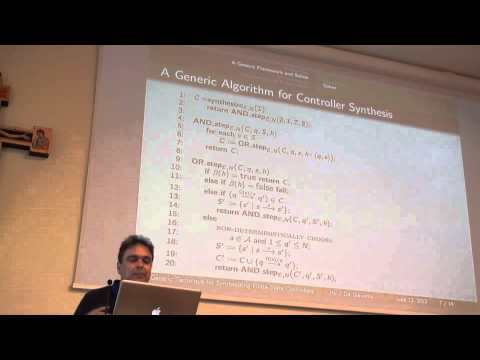 ICAPS 2013: Giuseppe De Giacomo - A Generic Technique for Synthesizing Bounded Finite-State ...