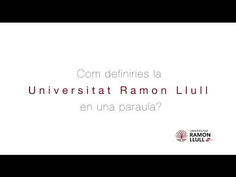 URL 25 anys. Com definiries la Universitat Ramon Llull en una paraula?