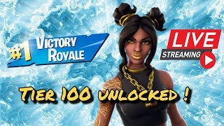 Fortnite battle royale season 8 tier 100 unlocked!| luxe skin|1200+wins| playing with subscribers |