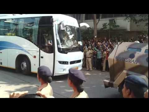 Team India Bus Leaving Wankhede Stadium...
