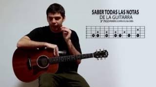 Como aprenderse todas las notas de la guitarra