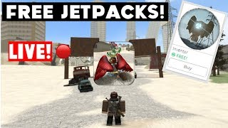 Free Jetpacks! LIVE! Roblox Electric State