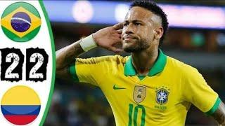 ملخص مباراة البرازيل وكولومبيا 2-2 - تعثر البرازيل - مباراة ودية