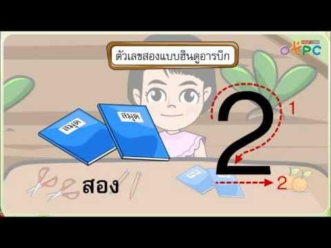 จำนวน 1 และจำนวน 2 - สื่อการเรียนการสอน คณิตศาสตร์ ป.1