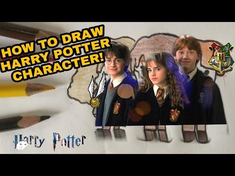 How to draw Harry Potter characters | Cartoon characters | Rama Art Tutorials