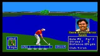 PGA European Tour Gameplay Sega Mega Drive/Genesis