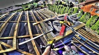 Wyzwanie # 36. Jak wyprowadzić kominy przez połać? Budowa domu 2017. Dzień 39. HD