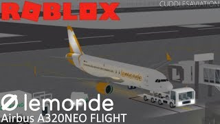 ROBLOX - LeMonde Airlines Airbus A320NEO Flight