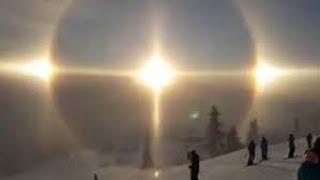 Penampakan ' tiga Matahari ' di Langit Swedia