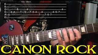 CANON ROCK - Guitar Lesson  ♫ ♪ ♫ ♪