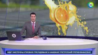 Реки из сока затопили улицы города Лебедянь   МИР24