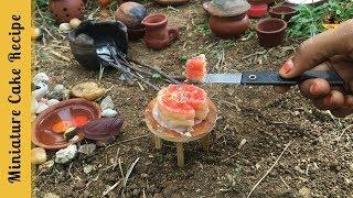 Miniature Cake Recipe | E#37 | Baking Strawberry Layered Cake | Miniature Cooking