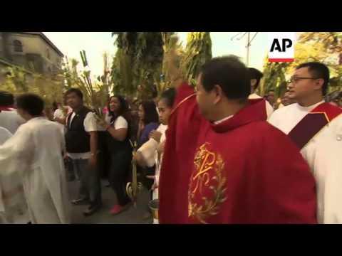 Filipinos observe Palm Sunday, commemorating the entry of Jesus to Jerusalem