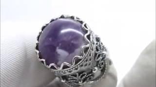 Напёрсток камень Аметист скань наперсток подарок коллекция сувенир Посеребрение 90034 15