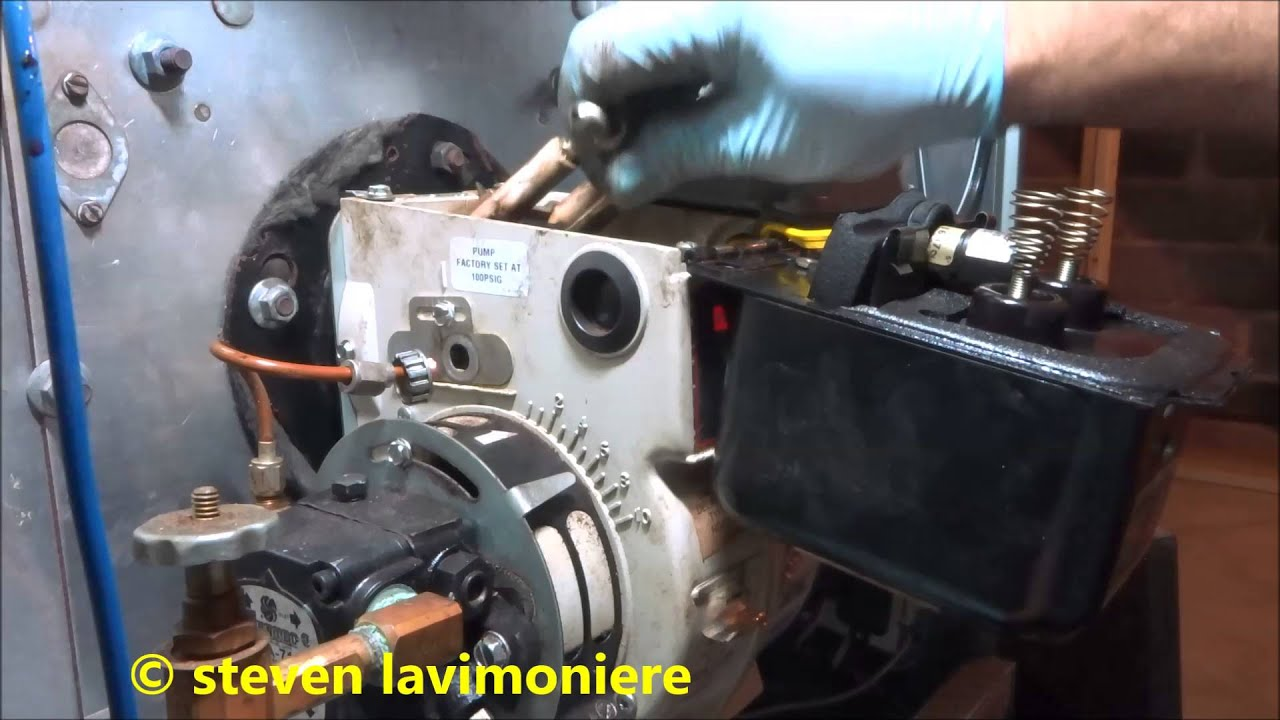 Annual service cleaning to a ruud oil fired furnace youtube for Lubricate furnace blower motor