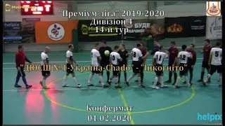ДЮСШ 1 Україна Chado Інкогніто 3 0 Дивізіон 4 14 й тур