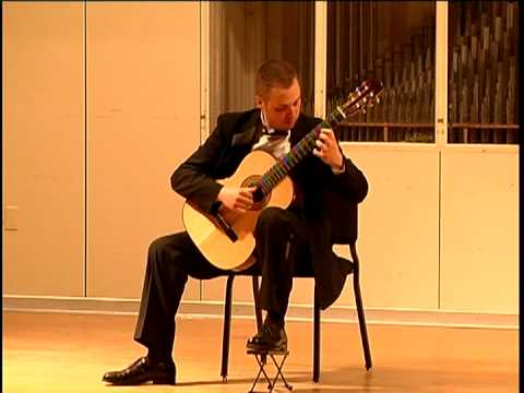 Guitarist Jeff Brown performing solo at College-Conservatory of Music, University of Cincinnati