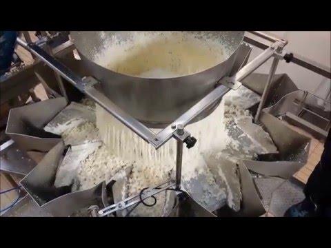 Linea para envasar queso turo en bolsas de 460 gr