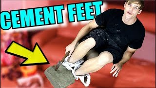Here's What Happens If You Put Your Feet In Wet Cement And Let It Dry