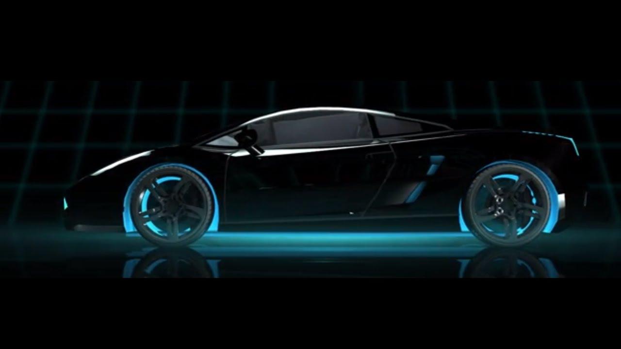 tron lamborghini cinema 4d render - Tron Lamborghini Aventador Wallpaper