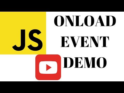 ONLOAD EVENT IN JAVASCRIPT   DEMO