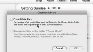 What does consolidating tracks in itunes do