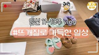 임신12~13주 vlog|태교 뜨개질|직장맘일상