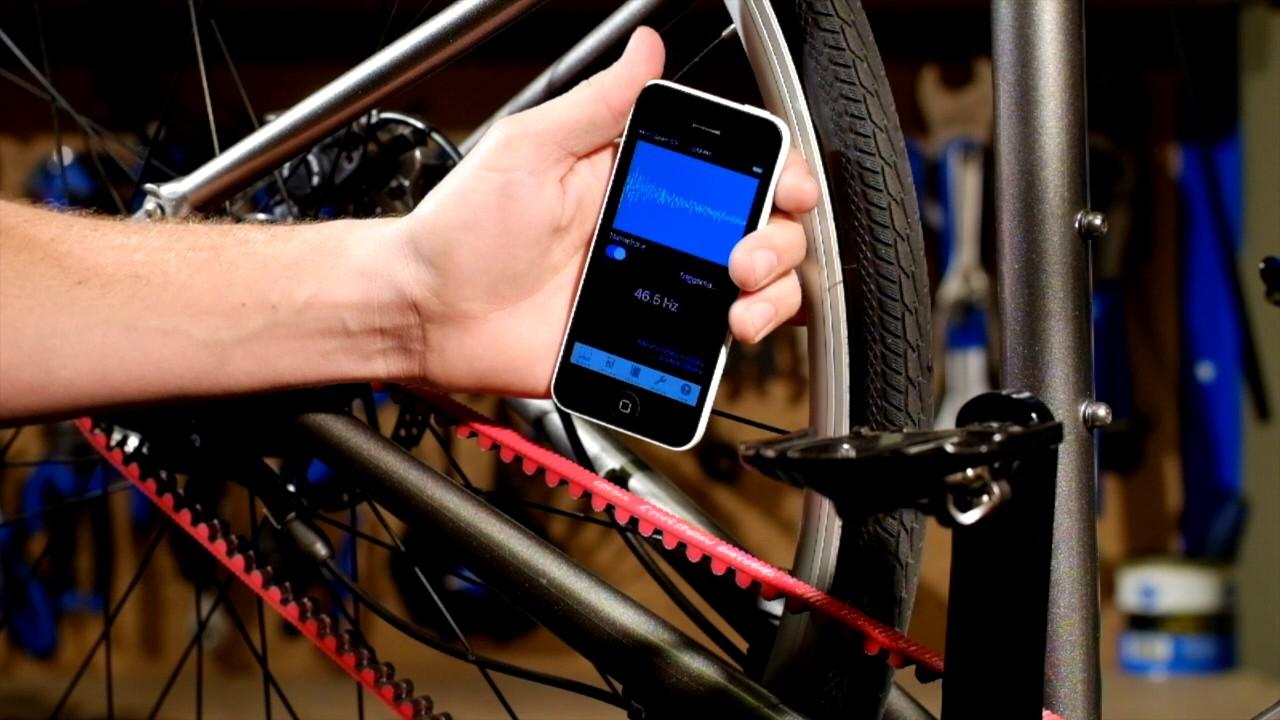 Gates Carbon Drive U Measuring Belt Tension Iphone App