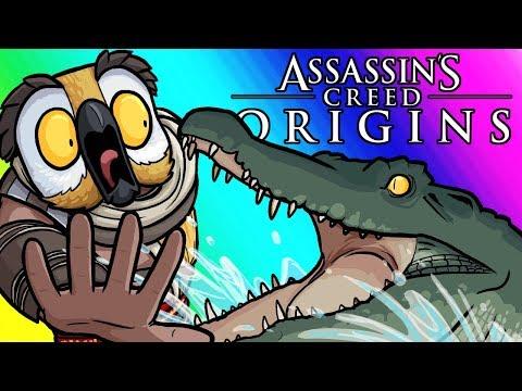 Assassins Creed Origins Funny Moments - Conquering the Seas! |
