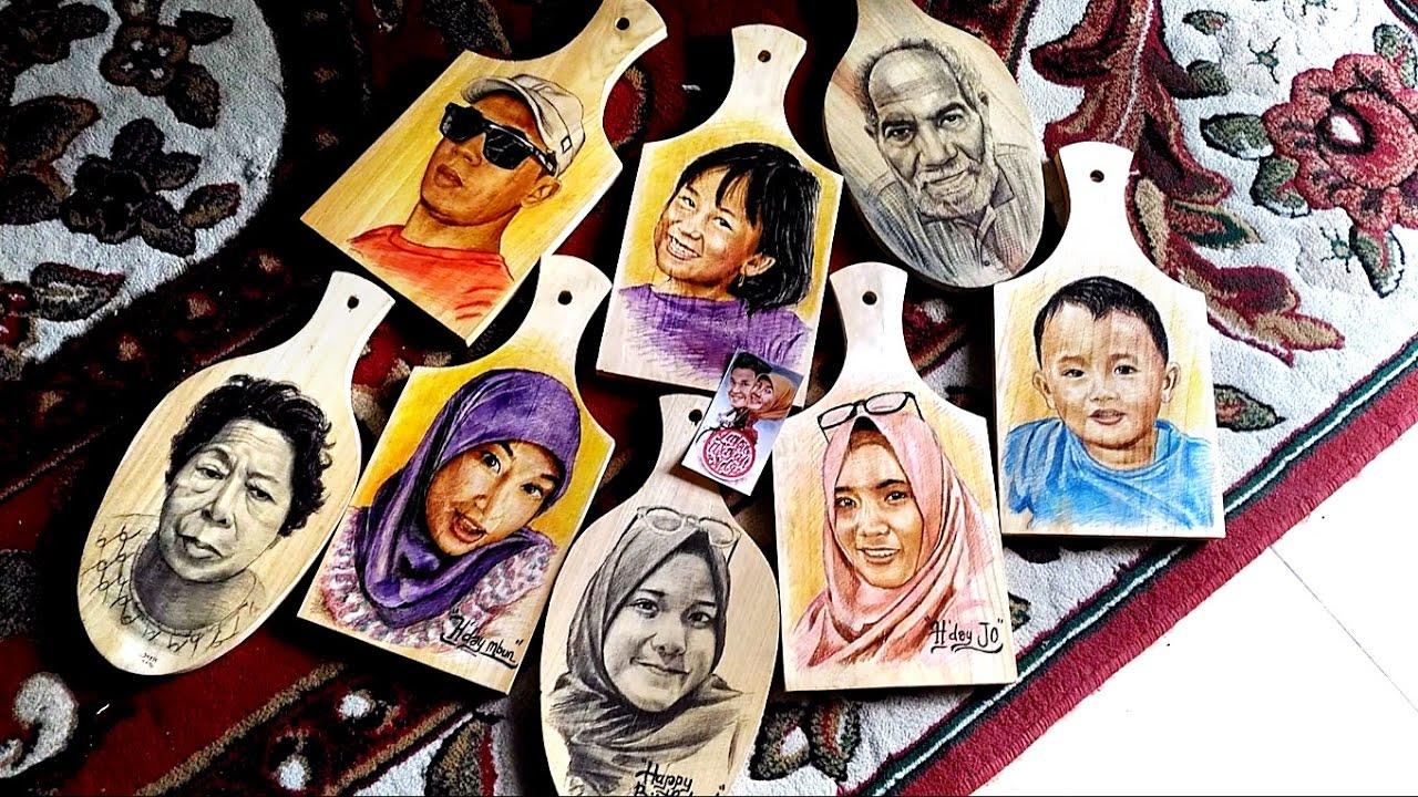 Contoh Lukis Wajah Di Talenan Kayu Drawing Face Examples Above