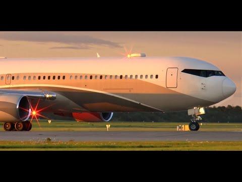 Roman Abramovich Boeing 767-300 VIP - Sunset Takeoff at Copenhagen Airport