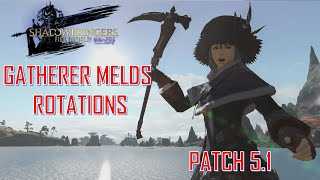 Final Fantasy XIV - Gatherer Melds & Rotations Patch 5.1