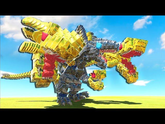 GODZILLA & KING GHIDORAH Had a BABY & it EVOLVED! - Animal Revolt Battle Simulator