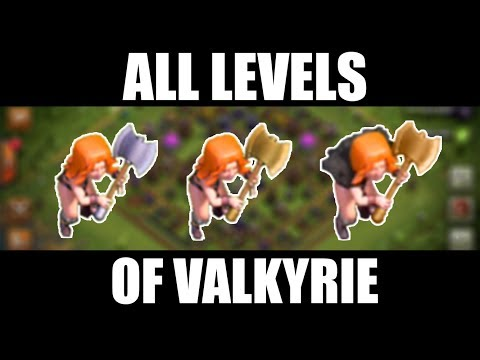 All Levels of Valkyrie Demonstration | Level 1 to Level 5 | Clash of Clans