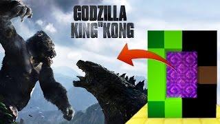 KING KONG VS GODZILLA 😱 PORTAL A LA DIMENSIÓN DE GODZILLA VS KONG EN MINECRAFT | DIMENSIONES #43