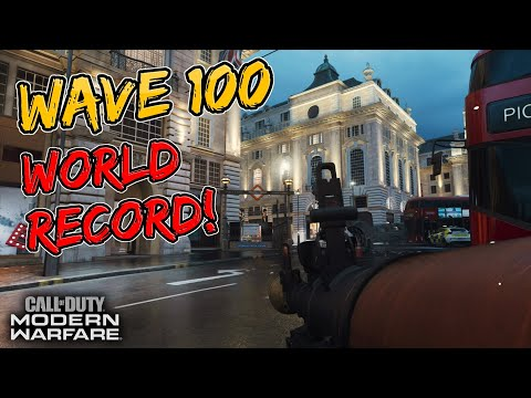 World's First Wave 100 on Modern Warfare Survival - (Piccadilly Circus)