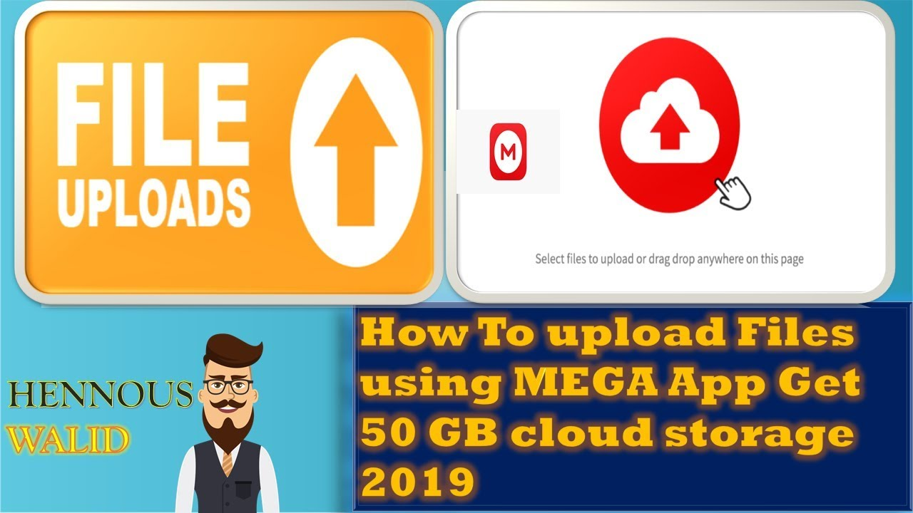 How to upload file to MEGA Get 50 GB cloud storage 2019