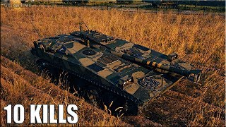 UDES 03 wot как играть 🌟 Колобанов, 10 ФРАГОВ 🌟 World of Tanks бой на шведской пт-сау 8 уровень
