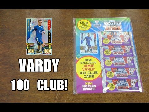 VARDY 100 CLUB! - Match Attax 2015/16 Multipack Opening