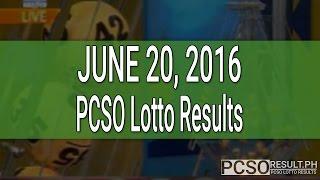 PCSO Lotto Results June 20, 2016 (6/55, 6/45, 4D, Swertres & EZ2)