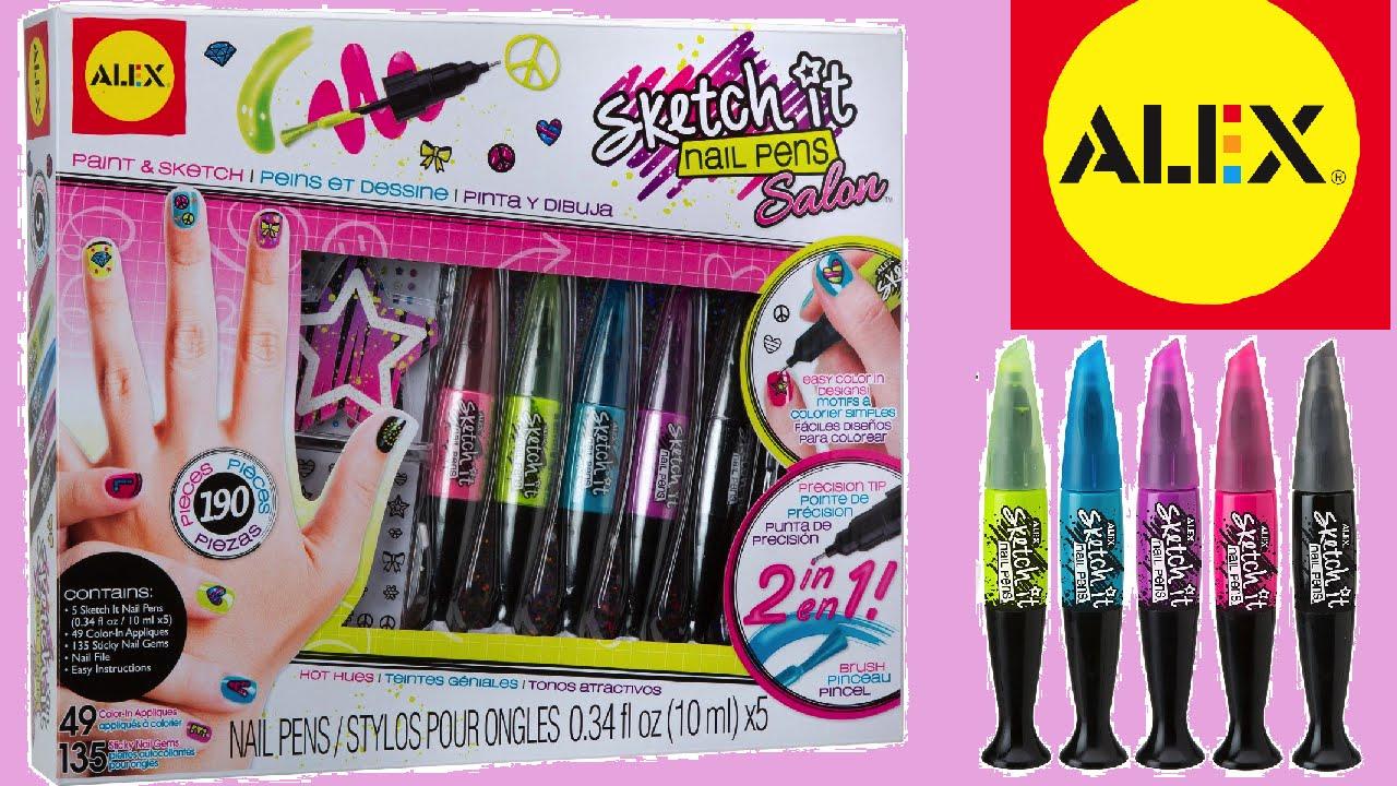 Nail Pen Salon Makeup for Kids - ALEX Toys Spa Sketch It Nail Pen ...